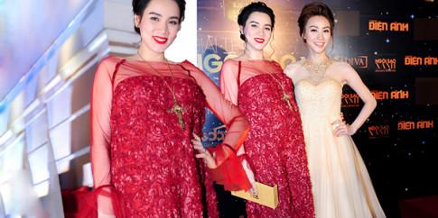 Trang Nhung khệ nệ bụng bầu dự lễ trao giải 'Ngôi Sao Xanh'
