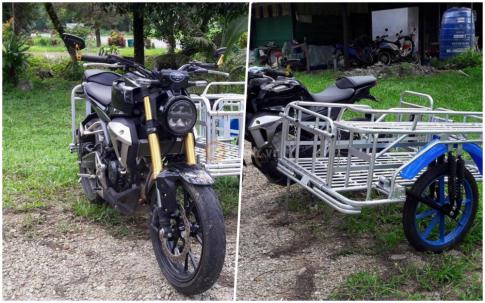 Bất ngờ xuất hiện Honda CB150R Exmotion dùng để chở hàng