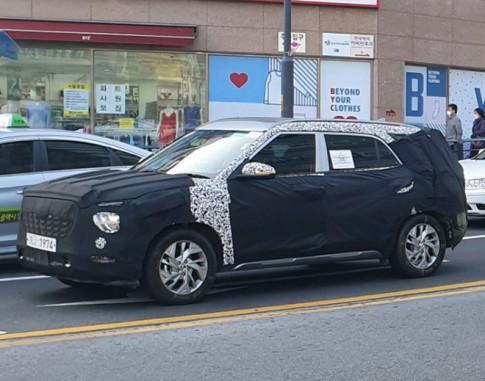 Hyundai Creta ban 7 cho xuat hien tren pho cung lop nguy trang