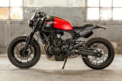 Yamaha XSR700 nổi loạn trong bản độ Tracker với tên gọi Hansamu