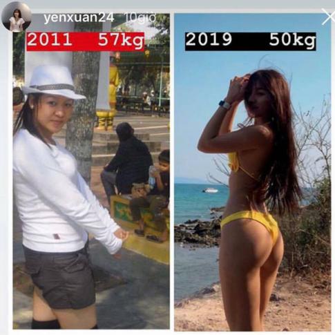 9 năm thay đổi vóc dáng của hot gymer Yến Xuân