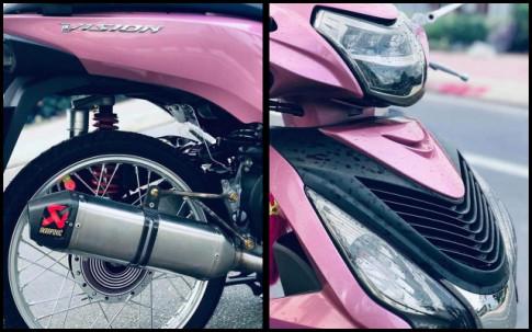Honda Vision độ tạo điểm nhấn bằng hơi thở Akrapovic đầy uy lực