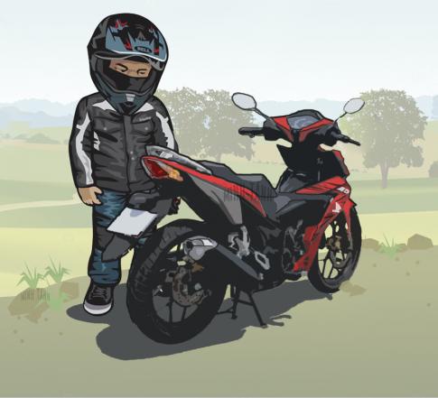[Phần 1]Bộ ảnh xe Honda Winner 150 với phong cách hoạt hình chibi độc đáo