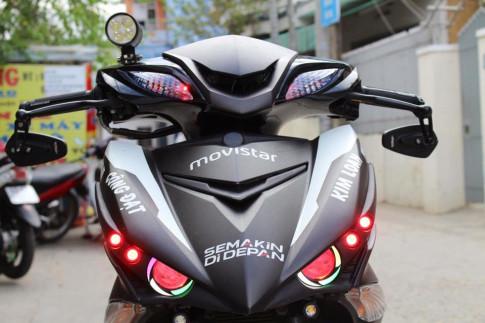Exciter 150 độ kiểng bức phá phiên bản Movistar của Biker Đà Nẵng