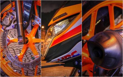 Honda Sonic 150 độ kiểng lộng lẫy dưới ánh đèn Sài Gòn