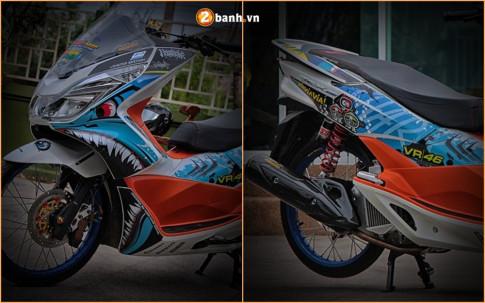Honda PCX độ cực chất với phong cách ' cá mập xé gió ' của biker nước bạn