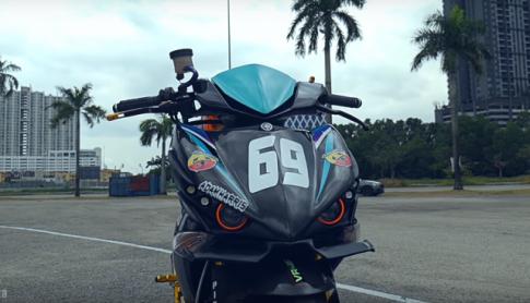 Exciter 150 độ siêu đỉnh với dàn chân Ducati Hypermotard từ nước bạn