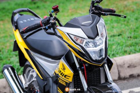 Sonic 150 độ tuyệt đỉnh với option đồ chơi hạng nặng của biker Sài Gòn
