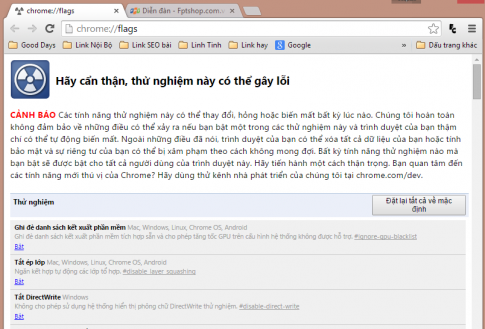 Huong dan khac phuc loi font tieng Viet tren Google Chrome 39
